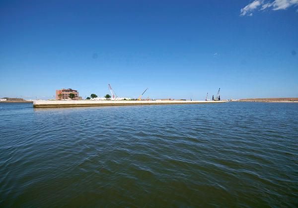 荒浜漁港第2号防砂堤災害復旧工事